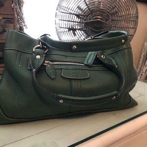 🌷Beautiful Green Pebble Leather Coach Bag